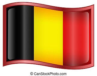Belgium Flag Icon, isolated on white background.