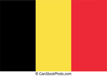 Belgium flag icon - isolated vector illustration