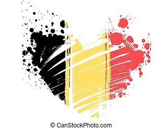 Belgium flag in heart shape