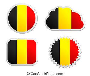 Belgium flag labels