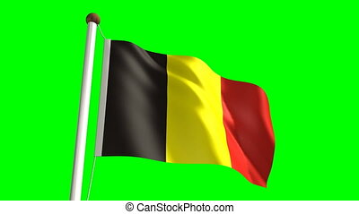 Belgium flag (Loop & green screen)