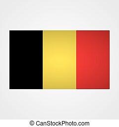 Belgium flag on a gray background. Vector illustration