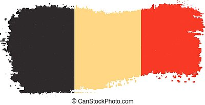 Belgium flag on a white background. Vector illustration .