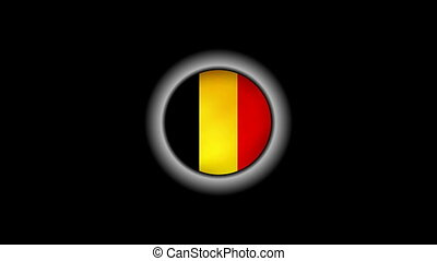 Belgium flag on button 1080p