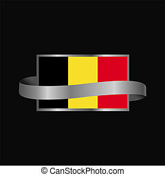 Belgium flag Ribbon banner design