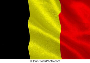 Belgium flag rippling