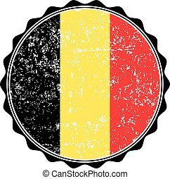 Belgium flag stamp with grunge. Vector illustration
