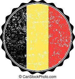 Belgium flag stamp with grunge. Vector illustration