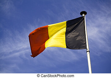 The flag of the Kingdom of Belgium