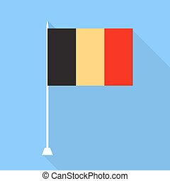 Belgium flag. Vector illustration .