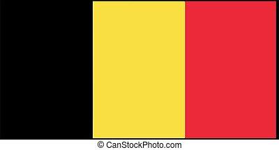 Belgium flag vector illustration isolated on background