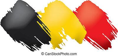 Belgium flag, vector illustration on a white background.