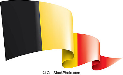 Belgium flag, vector illustration on a white background
