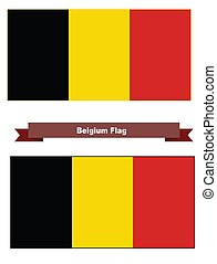 Belgium Flag, With and without a 2 Pixel border.