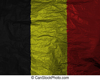 belgium flag with texture on background