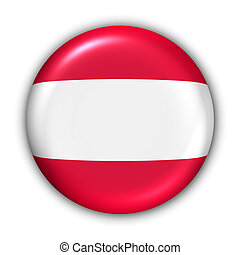 World Flag Button Series - Europe - Belgium(With Clipping Path)