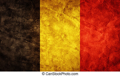 Belgium grunge flag. Item from my vintage, retro flags collection