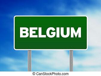 Belgium Highway  Sign