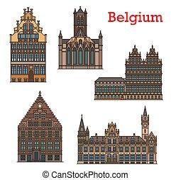 Belgium landmarks, travel architecture of Ghent