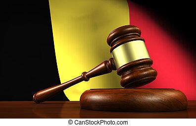 Belgium Law Legal System Concept