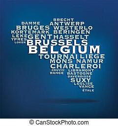 Belgium map concept