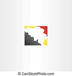 belgium map logo icon vector