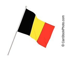 Belgium national flag. vector illustration