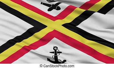Belgium Naval Ensign Flag Closeup Seamless Loop