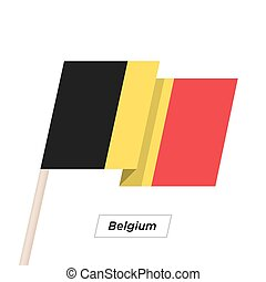 Belgium Ribbon Waving Flag Isolated on White. Vector Illustration.