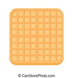 Belgium square waffle in flat style.