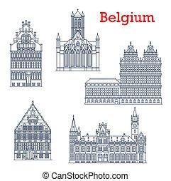 Belgium travel landmarks, architecture of Ghent