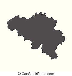 Belgium vector map. Black icon on white background.