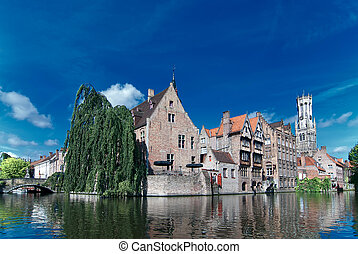 Belgium,old Brugge canal