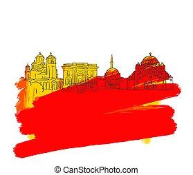 Belgrade Colorful Landmark Banner