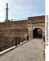 Belgrade fortress on the confluence of two rivers