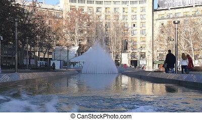 Fountain at Nikola Pasic square