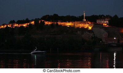 Belgrade, night view of the river
