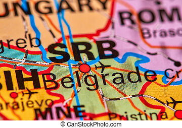Belgrade on the Map