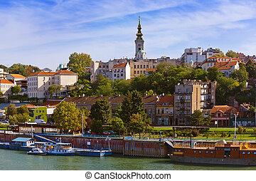 Belgrade Serbia cityscape - architecture travel background