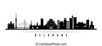 Belgrade skyline horizontal banner.