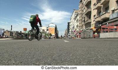 Belgrade, Street, Brankova - Belgrade, Street, kids on bikes