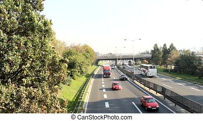 belgrade traffic on the road