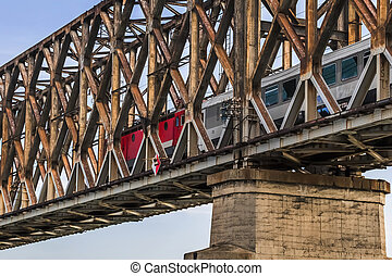 Belgrade's Old Railway Truss Bridge