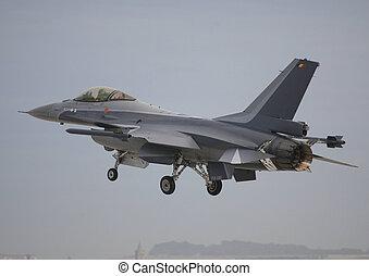 belguim airforce f16 - baf f16 landing raf leuchars