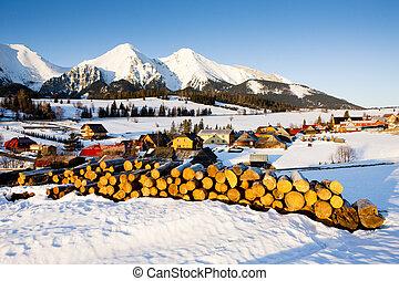 Belianske Tatry (Belianske Tatras) in winter, Zdiar, Slovakia