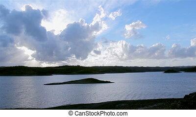 Beliche Dam still view C - Algarve Beliche dam landscape...