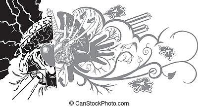 Belief and Life Graffiti Tattoo
