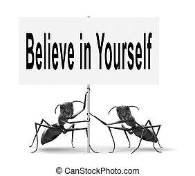belief in yourself be self confident