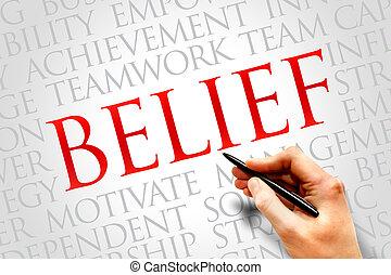 BELIEF word cloud, business concept