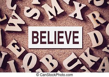 Believe Concept Word